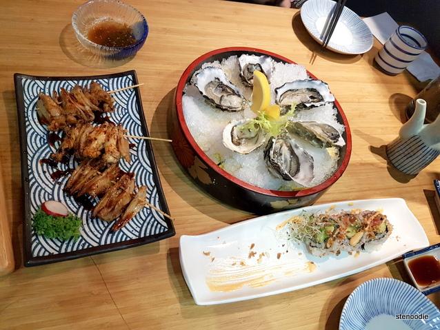 AKA-ONI Ramen & Izakaya food