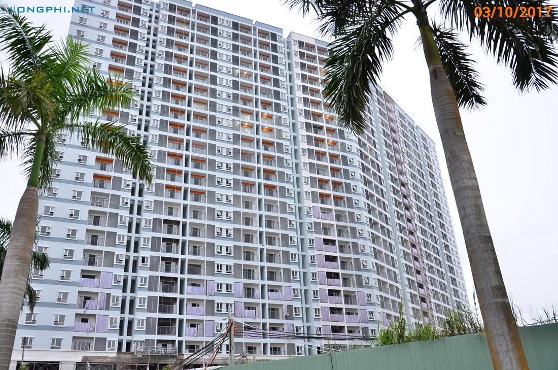 Mặt trong tháp Nam M2 - Jamona Apartment. Đang thi công hoàn thiện.