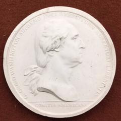 Washington Before Boston medal obverse plaster