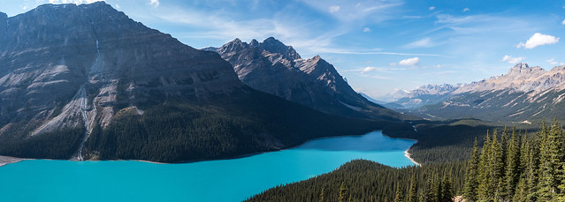 Peyto Lake via Bow Summit