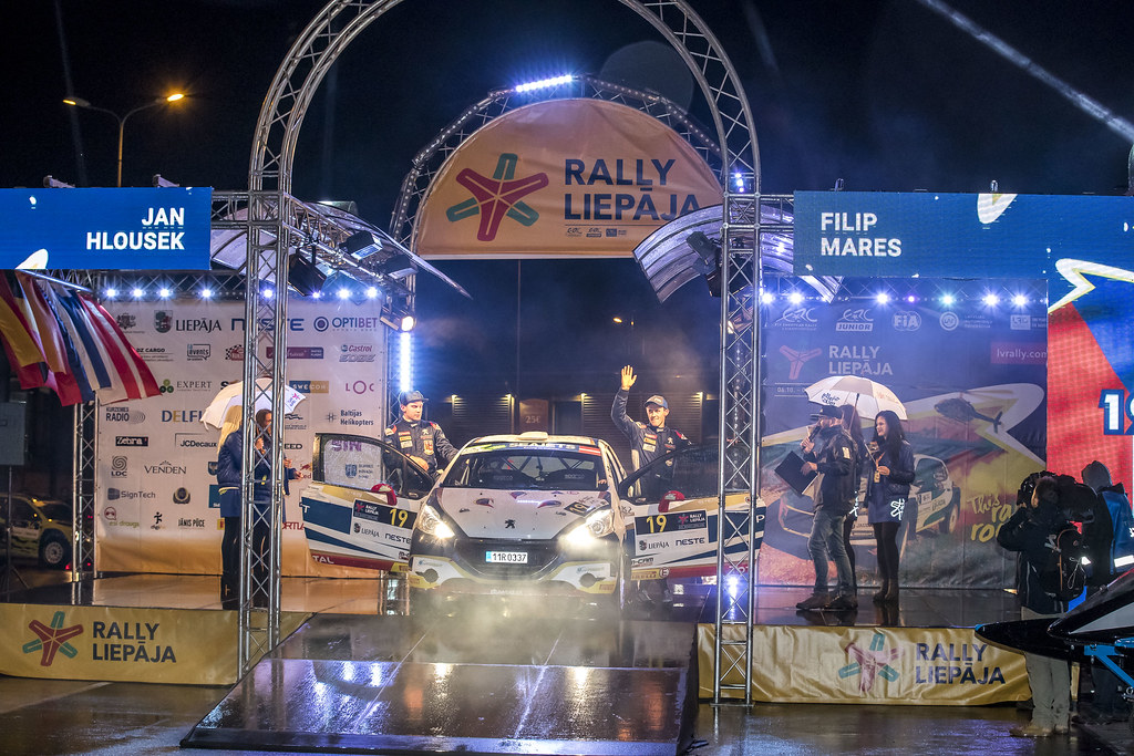 19 Mareš Filip and Hloušek Jan, ACCR Czech Team, Peugeot 208 R2 ERC Junior U27 action during the 2017 European Rally Championship ERC Liepaja rally,  from october 6 to 8, at Liepaja, Lettonie - Photo Gregory Lenormand / DPPI