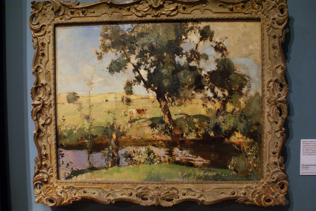 """The Amber pool"" (1904), toile d'EA Walton."