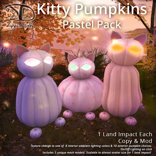 Kitty Pumpkins Pastel