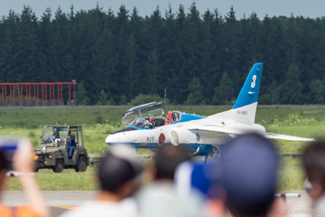JASDF Chitose AB Airshow 2017 (136) Blue Impluse No.3 towing to the spot