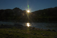 Midnight sun over Firth River, Ivvavik National Park, YT more detail 2
