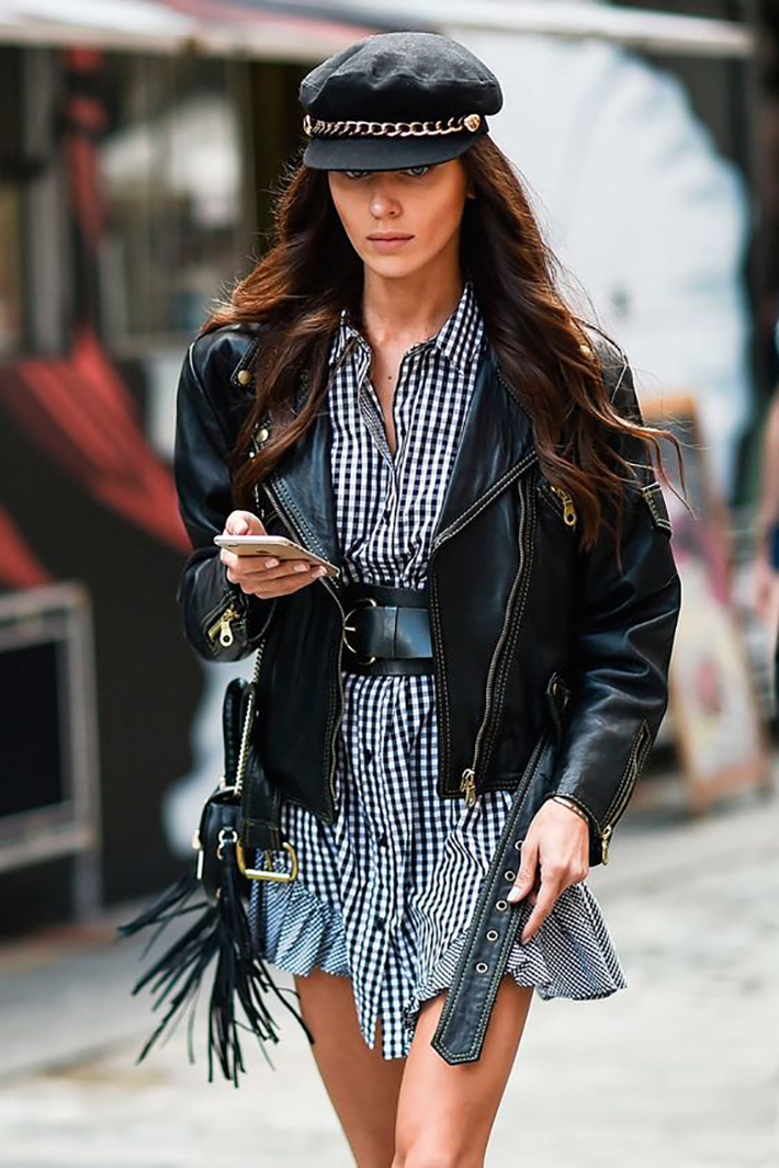 autumn outfits stripes plaid blazer street style trend style outfit 2017 accessories denim7
