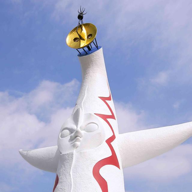 海洋堂 1/144比例 岡本太郎『太陽之塔』塗裝完成模型(太陽の塔 塗装済み完成モデル)【再次販售】