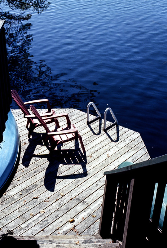 Cottage Dock on Solitaire Lake