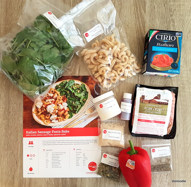 Italian Sausage Pasta Bake ingredients