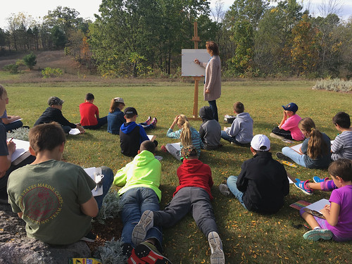St. Patrick (Parnell) students learn at Franciscan farm