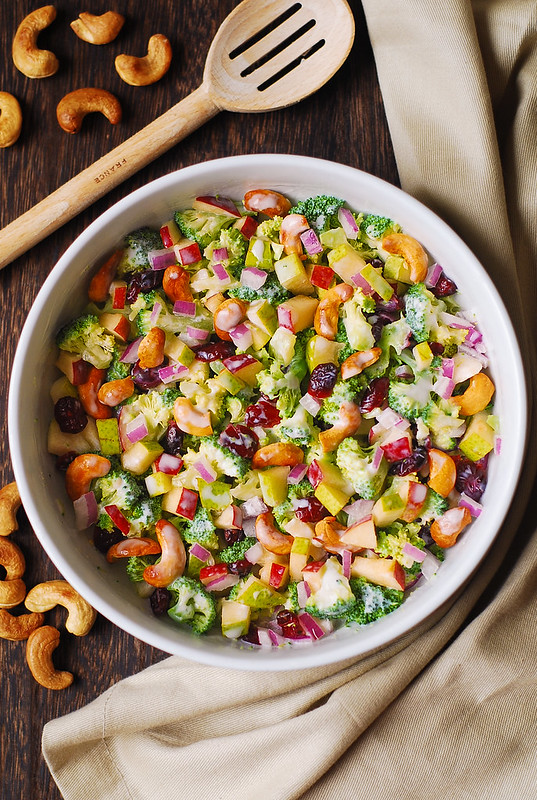 healthy broccoli salad, winter broccoli salad, best broccoli salad