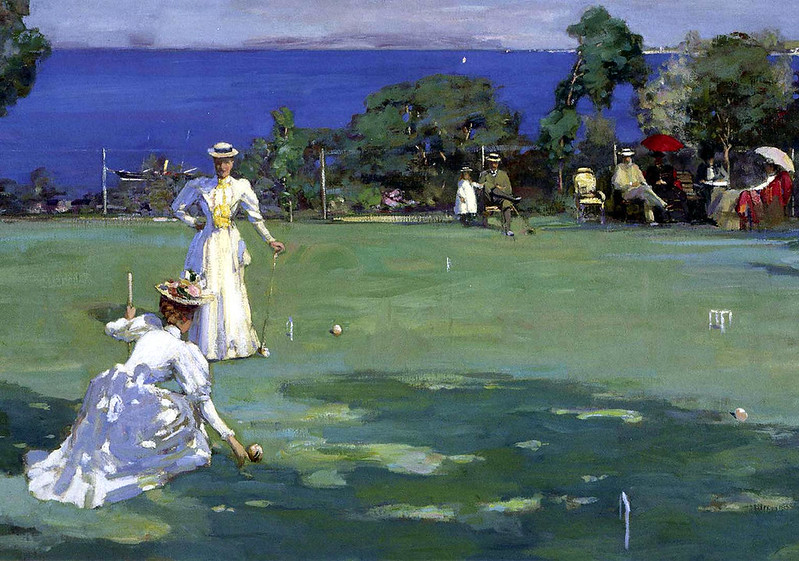The Croquet Party by Sir John Lavery, R.A., 1890