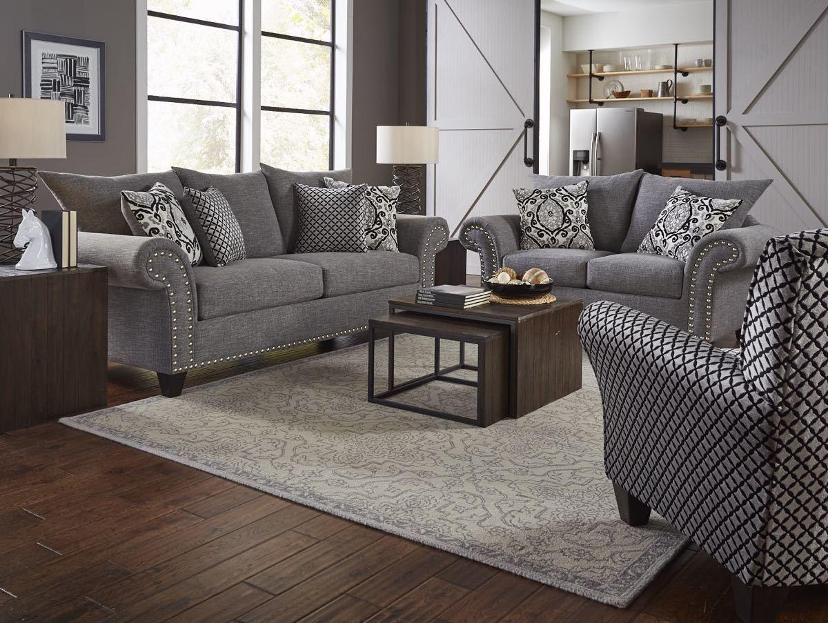892 The Paradigm Living Room Set Grey: All American Mattress & Furniture