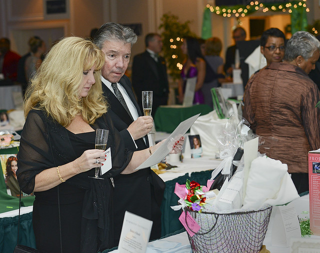 Renowned for its many high quality offerings, the Green and White Ball's silent auction items are extremely popular, showcasing some of the finest vacations, spas, sports, spirits, and services in the Delaware Valley.