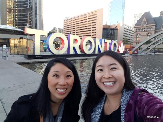 Toronto sign selfie