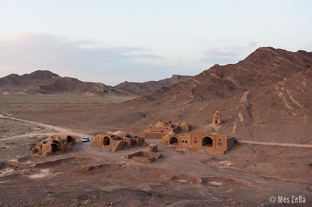 Restes de les torres del silenci a Yazd