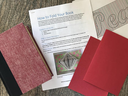 Folded Book Kit Instructions and Supplies - Reading with Scissors