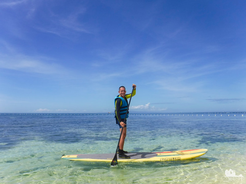 Stand-Up Paddling at Bluewater Panglao Beach Resort