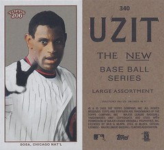 2002 / 2003 - Topps 206 Mini Baseball Card / Series 3 / Uzit - SAMMY SOSA #340B (White) (Outfield) (Chicago Cubs)