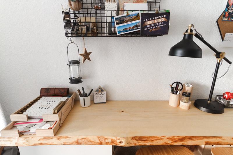 Holzbohle Schreibtisch Home Office