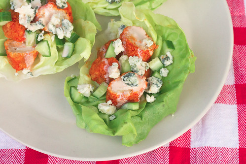 Crispy Buffalo Chicken Lettuce Wraps