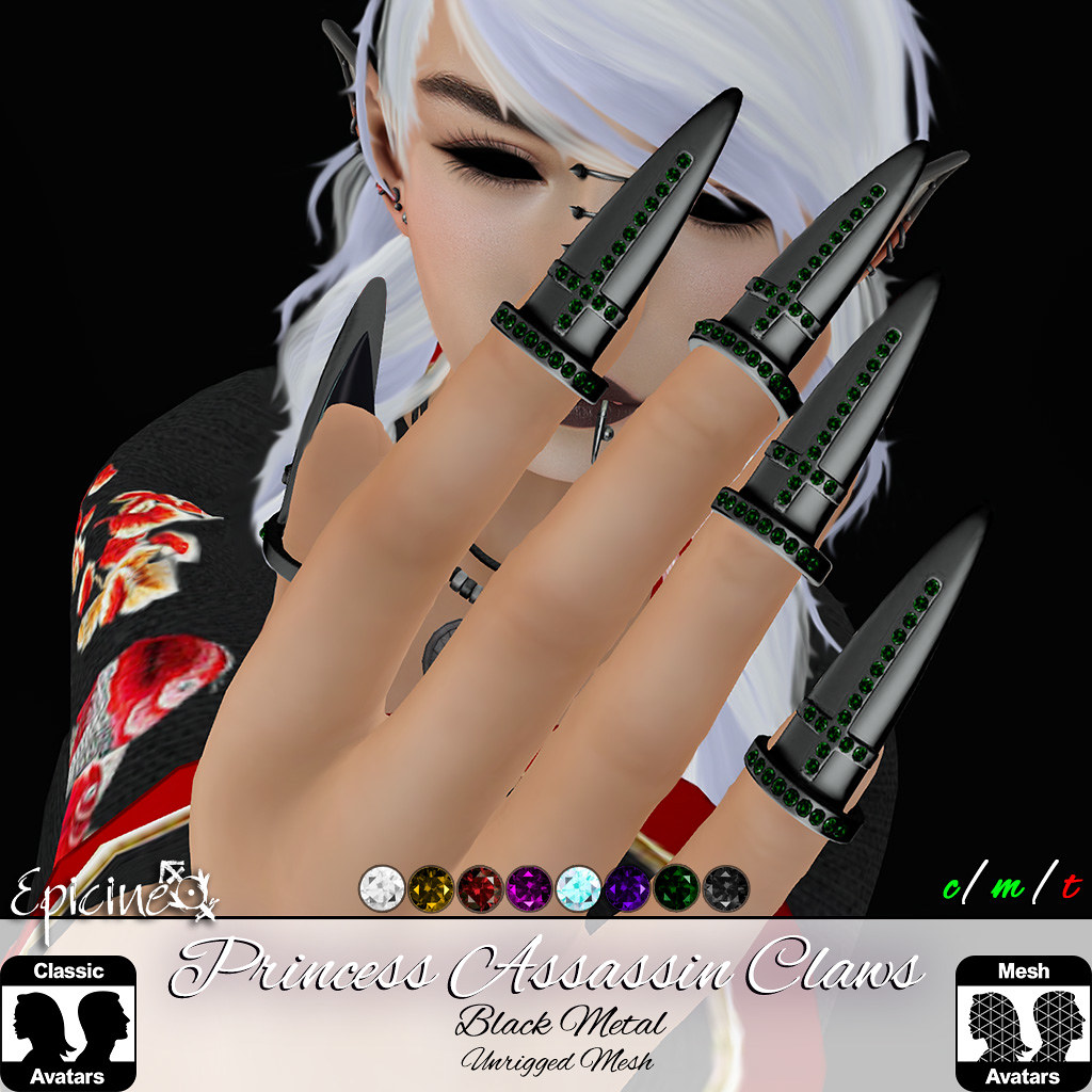 Epicine – Princess Assassin Claws – Black Metal Version