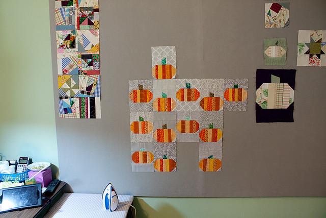 Pumpkin Wall-Hanging Quilt