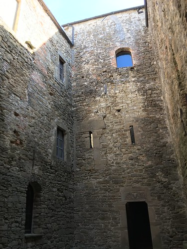 Courtyard of Prunetto castle