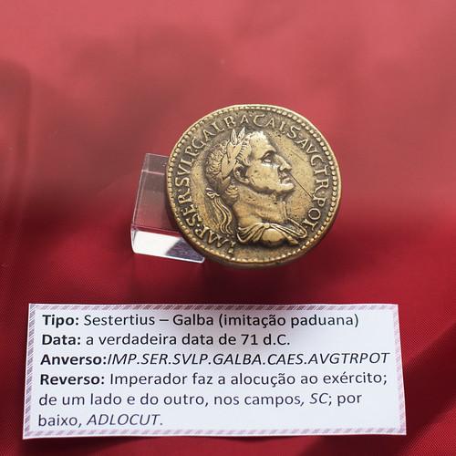 Imitation Roman sestertius of Galba