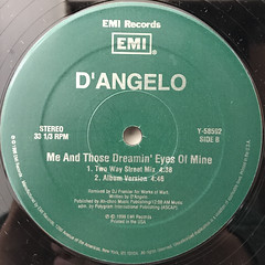 D'ANGERO:ME AND THOSE DREAMIN' EYES OF MINE(LABEL SIDE-B)