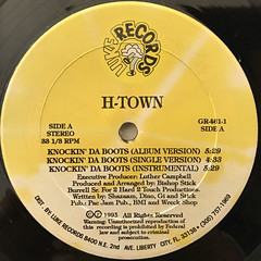 H-TOWN:KNOCKIN' DA BOOTS(LABEL SIDE-A)