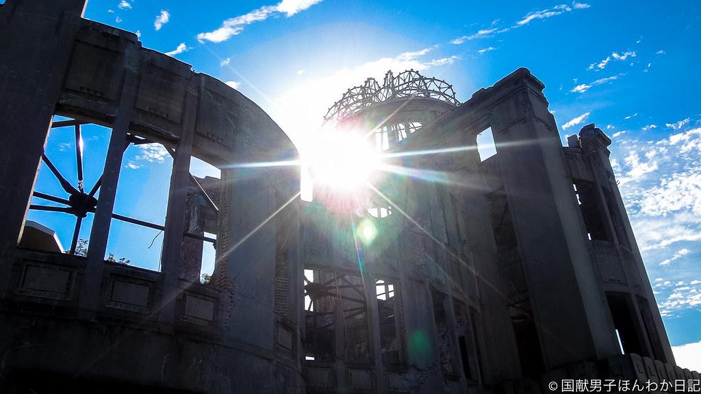 世界遺産・原爆ドーム(17.09.30撮影:筆者)