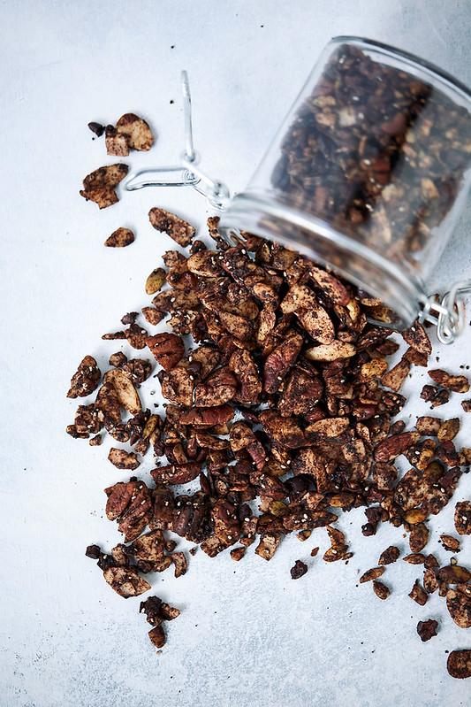 Chocolate Coffee Keto Granola {Grain-free, gluten-free, paleo}