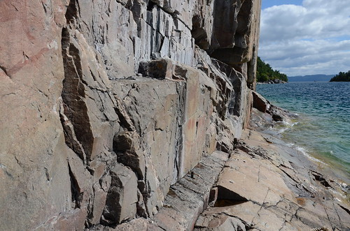 Lake Superior pictograph wall