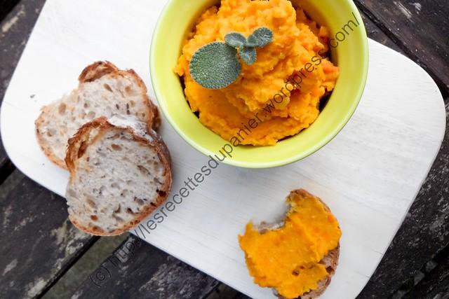 Houmous de Carottes et Lentilles Corail / Carrot and Red Lentils Hummus