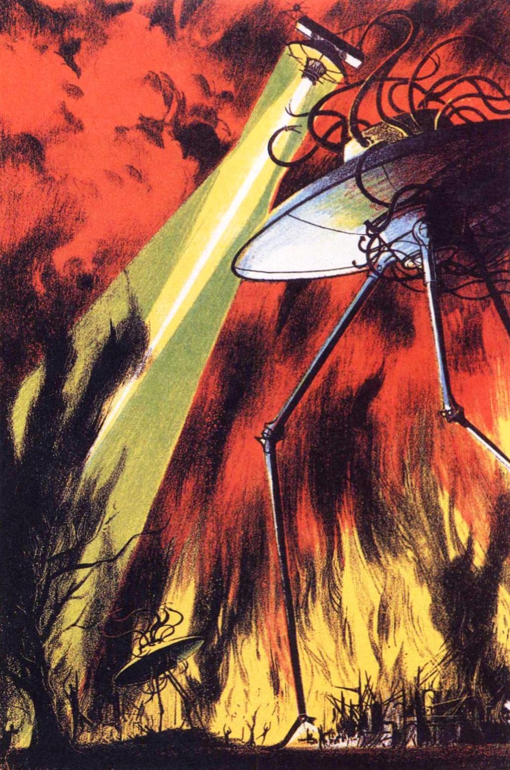 "Joseph Mugnaini - Illustration from ""War of the Worlds"" by H. G. Wells, 1964"