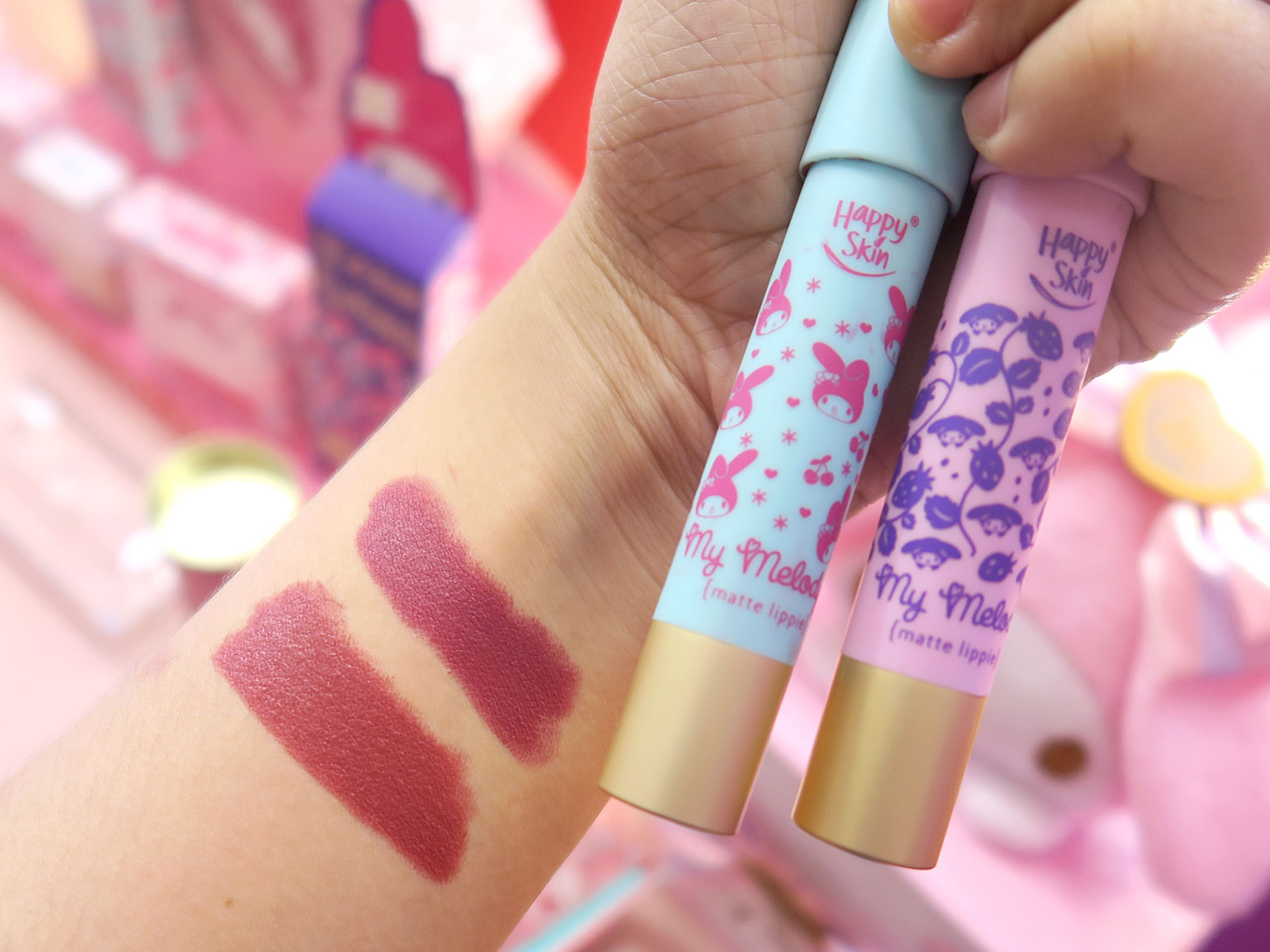 5 Happy Skin x Sanrio Characters - Grand Launch, Preview, Swatches - Gen-zel - She Sings Beauty