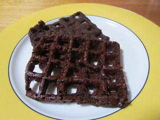 Chocolate Teff Waffles