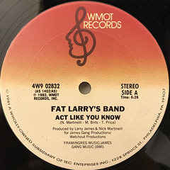 FAT LARRY'S BAND:ACT LIKE YOU KNOW(LABEL SIDE-A)