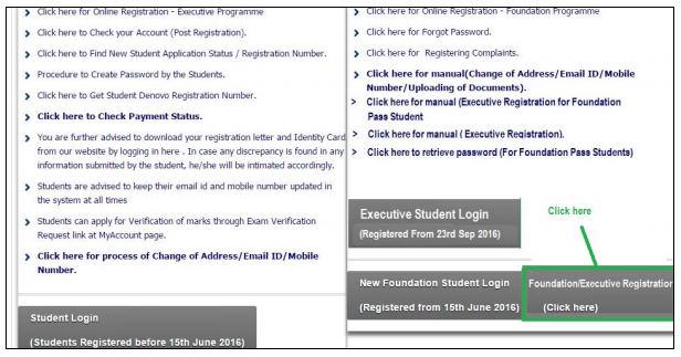 CS Foundation Registration
