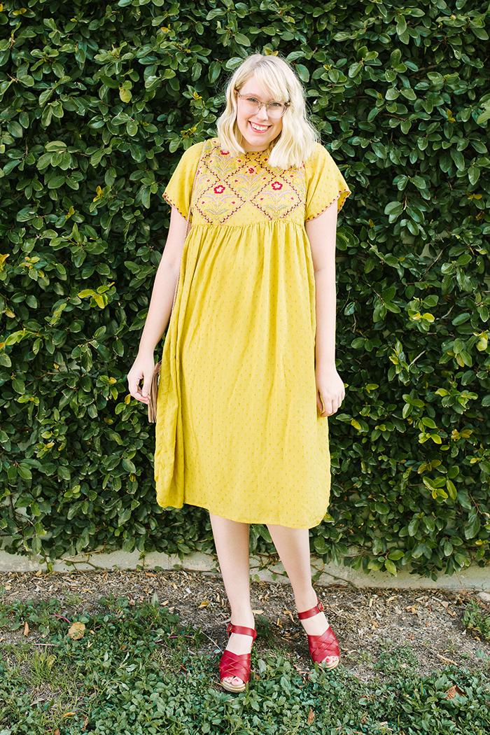 austin fashion blogger writes like a girl yellow zara dress2