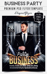 Business Party – Free Flyer PSD Template + Facebook Cover