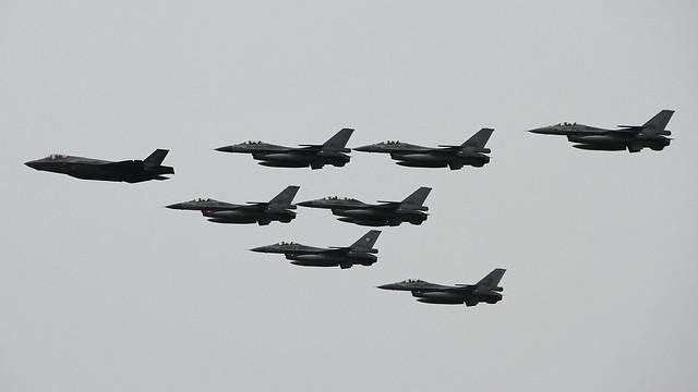 F-35 & F-16 Formation