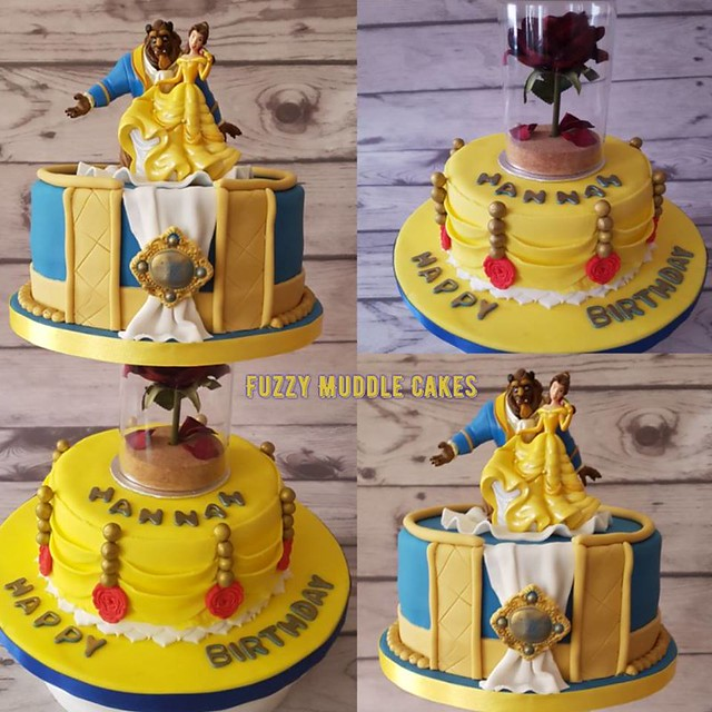 Beauty and the Beast Tiered Themed Cake by Fuzzy Muddle Cakes
