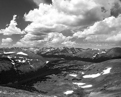 Rocky Mtn scenery along Trail Ridge Road-B&W-lg sig