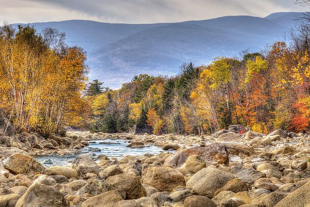 The Pemigewasset River in Autumn