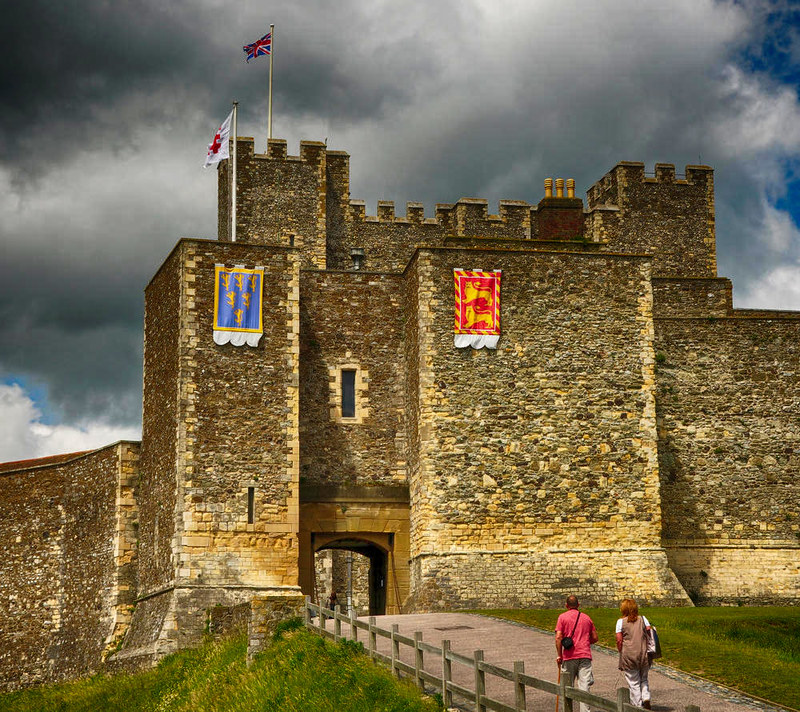 Dover Castle Palace Gate to the inner bailey. Credit Nilfanion