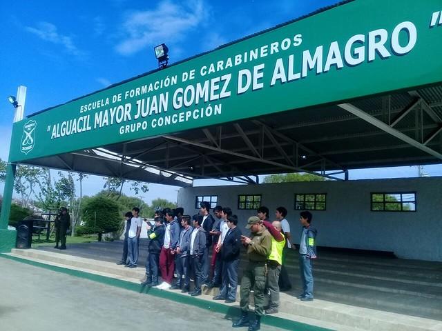 Monitores de seguridad fueron recibidos en la Escuela de Formación de Carabineros
