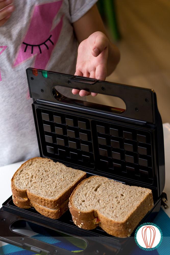 Little Foodies: Waffled Sandwich