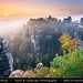 Germany - Saxony - Saxon Switzerland National Park -  Bastei at Autumn Sunrise